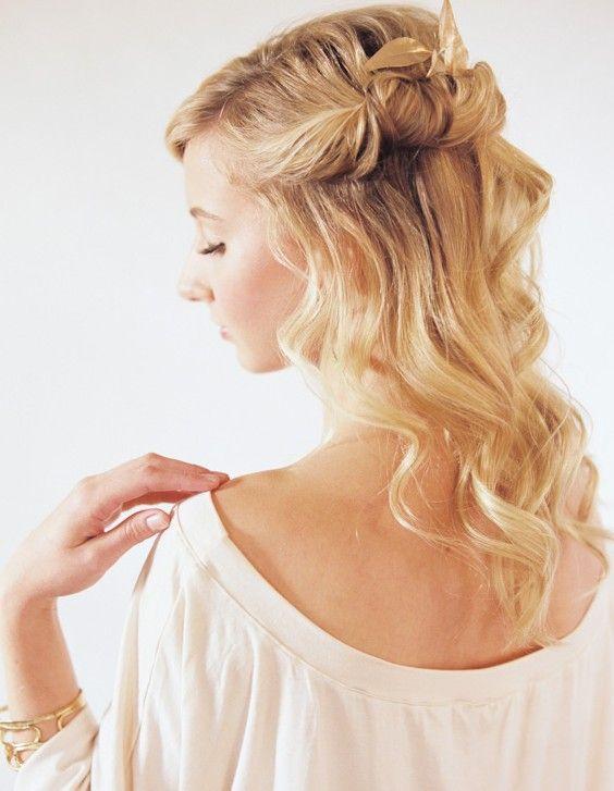 Half Up Half Down Hairstyles Tutorial Loose Long Hairstyles