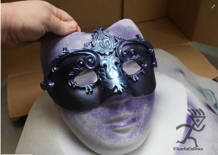 Plastic Masks To Decorate Best Fondant Masquerade Mask Tutorial  Cake Decorating Tutorials Inspiration