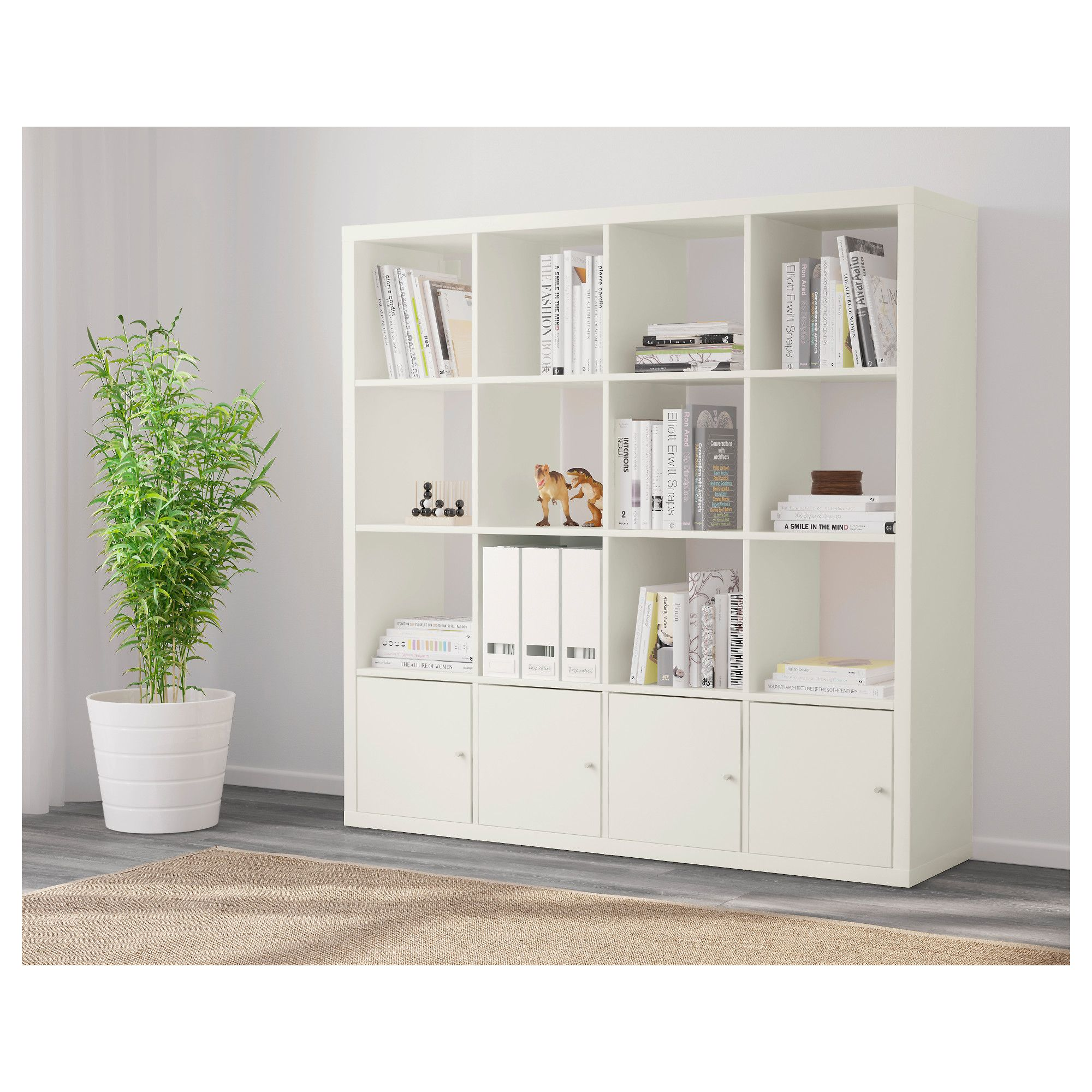 Ikea Regale Kallax kallax shelving unit with 4 inserts white 147x147 cm kallax