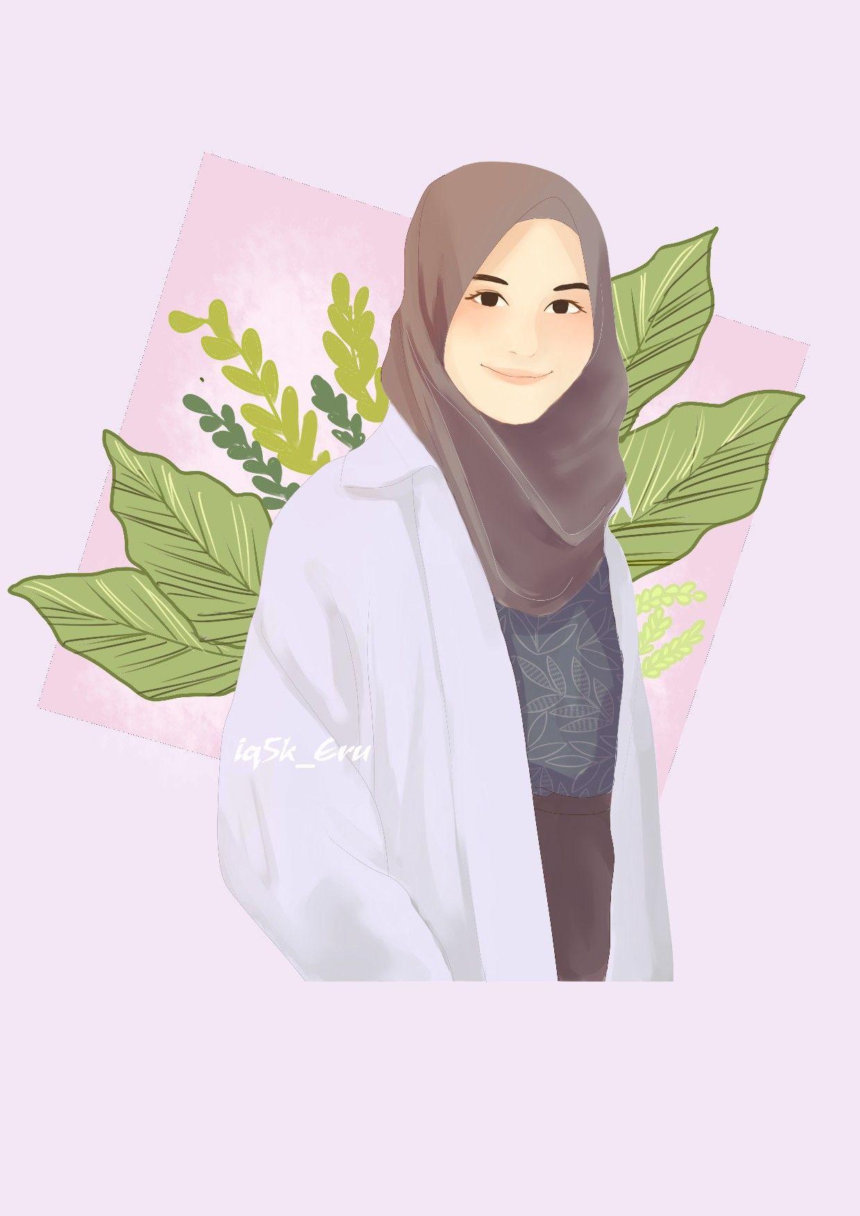muslimahart Lukisan, Kartun, Wanita