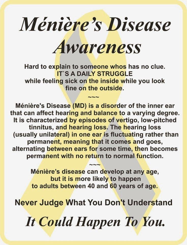 Photo Not Totally Related Meniere S Disease An Antiviral Approach To Eliminating Vertigo This Post Disease Awareness Tinnitus Remedies Meneires Disease