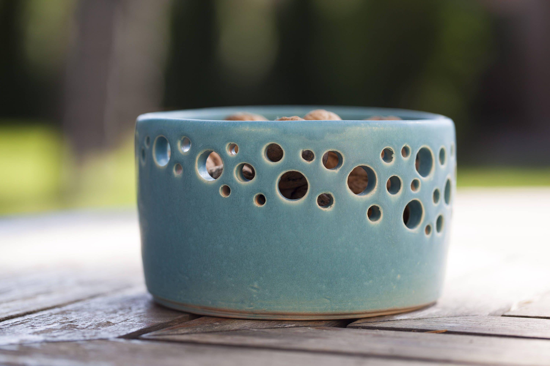 Decorative Ceramic Bowl Decorative Ceramic Bowl With Pierced Rim Ceramic Fruit Bowl