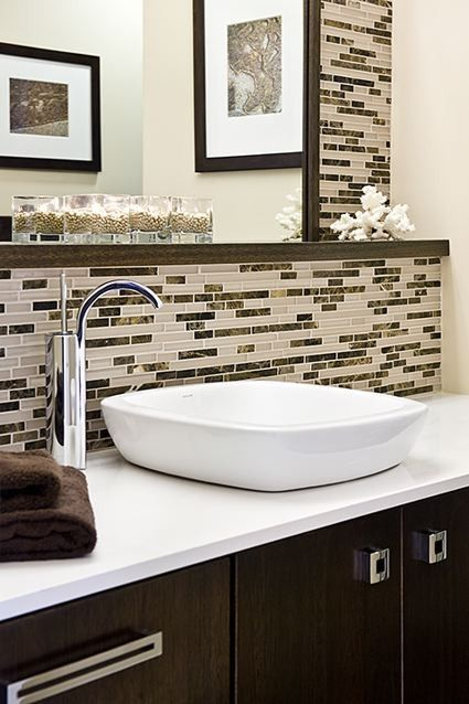 I Like The Vessel Sink And The Off Center Faucet Home