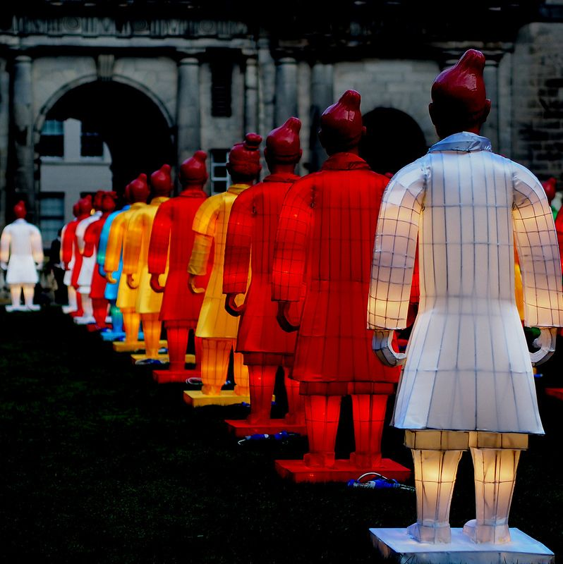 The Lanterns of Terracotta Warriors by Xia Nan for Beijing Olympic Games