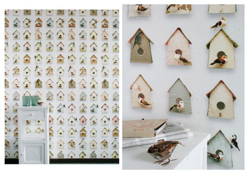 papier peint studio ditte cabanes oiseaux studio ditte mes habits ch ris kidstore. Black Bedroom Furniture Sets. Home Design Ideas