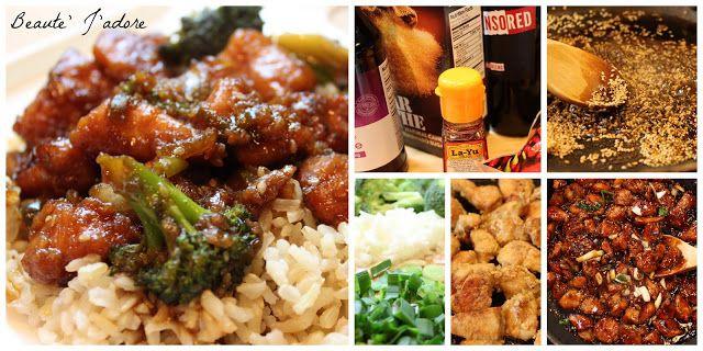 Beaute' J'adore: Sesame Chicken & Broccoli