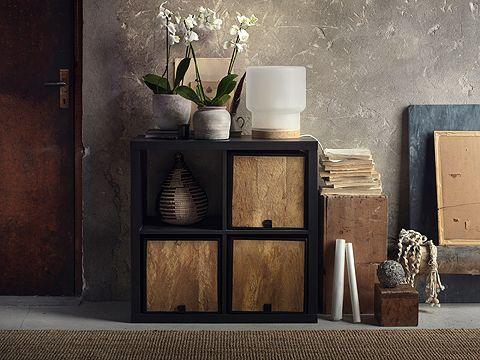 dompen korb in einem schwarzbraunen kallax b cherregal interior in 2019 pinterest brown. Black Bedroom Furniture Sets. Home Design Ideas