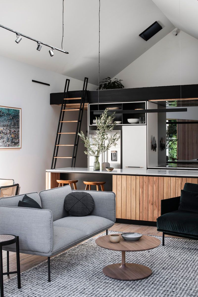 This House Addition Included A Vaulted Ceiling To Create More Open