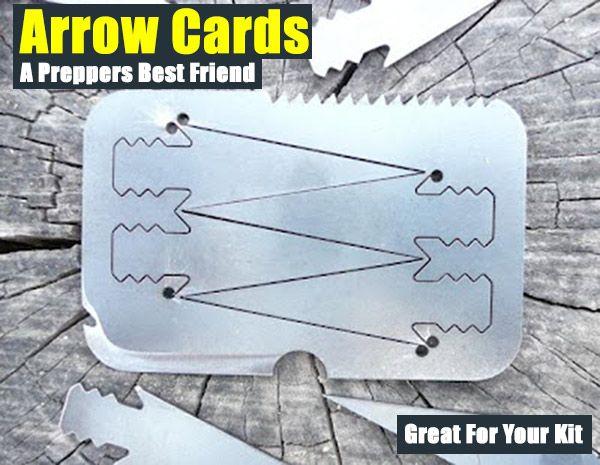 Arrow Cards A Preppers Best Friend,shtf,prepping,shtf kit,survival,