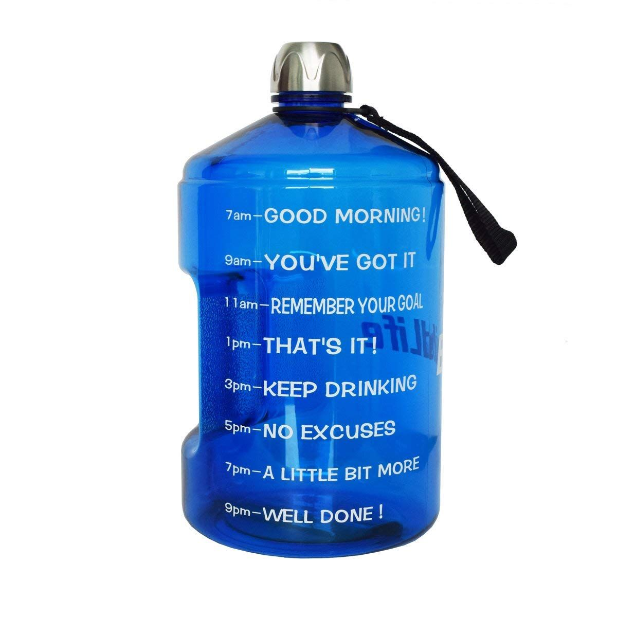 1 Gallon Water Bottle Motivational Fitness Workout With Time Marker And Encouraging Qoutes Water Bottle Challenge Gallon Water Bottle 1 Gallon Water Bottle