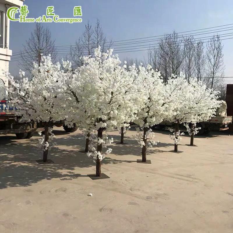 Cheap Wholesale Artificial Cherry Blossom Tree White Silk Flower Indoor Wedding Centerpieces Blossom Trees Artificial Cherry Blossom Tree Blossom Tree Wedding