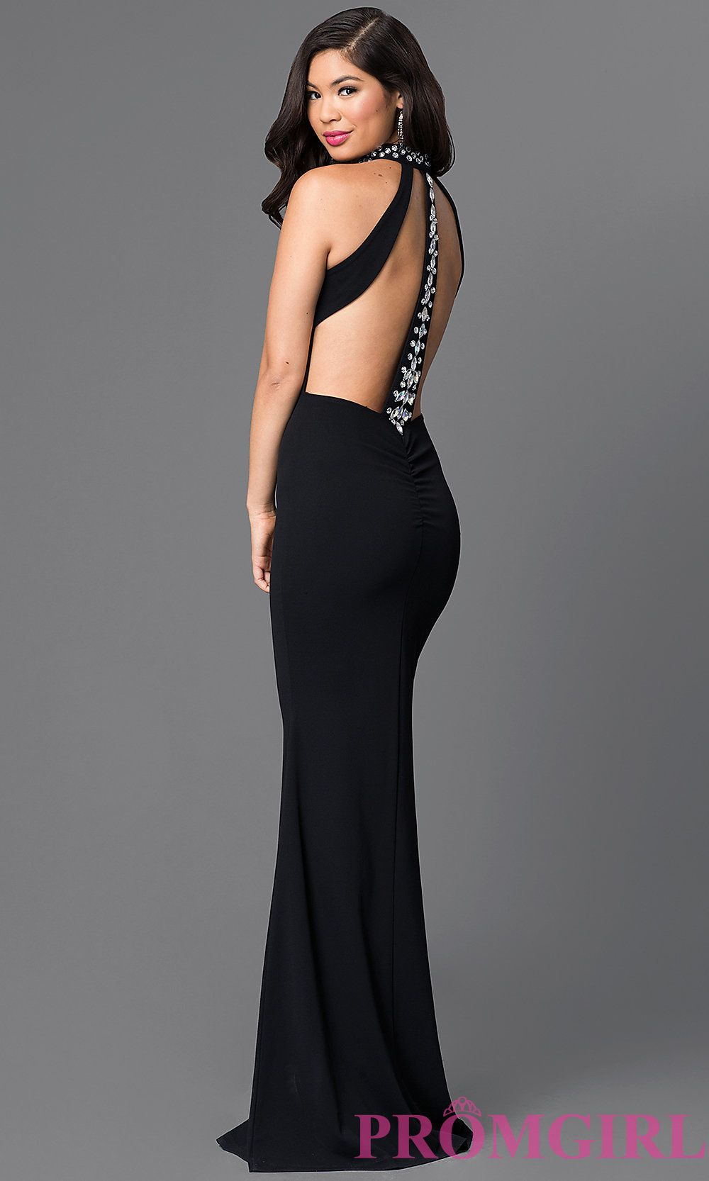 High Neck Long Black Open Back Formal Dress Long Sleeve Mermaid Prom Dress Evening Dress Fashion Long Black Dress Formal [ 1666 x 1000 Pixel ]