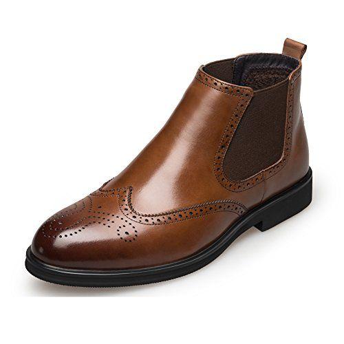 KANGNAI Men's Chelsea Boots Genuine