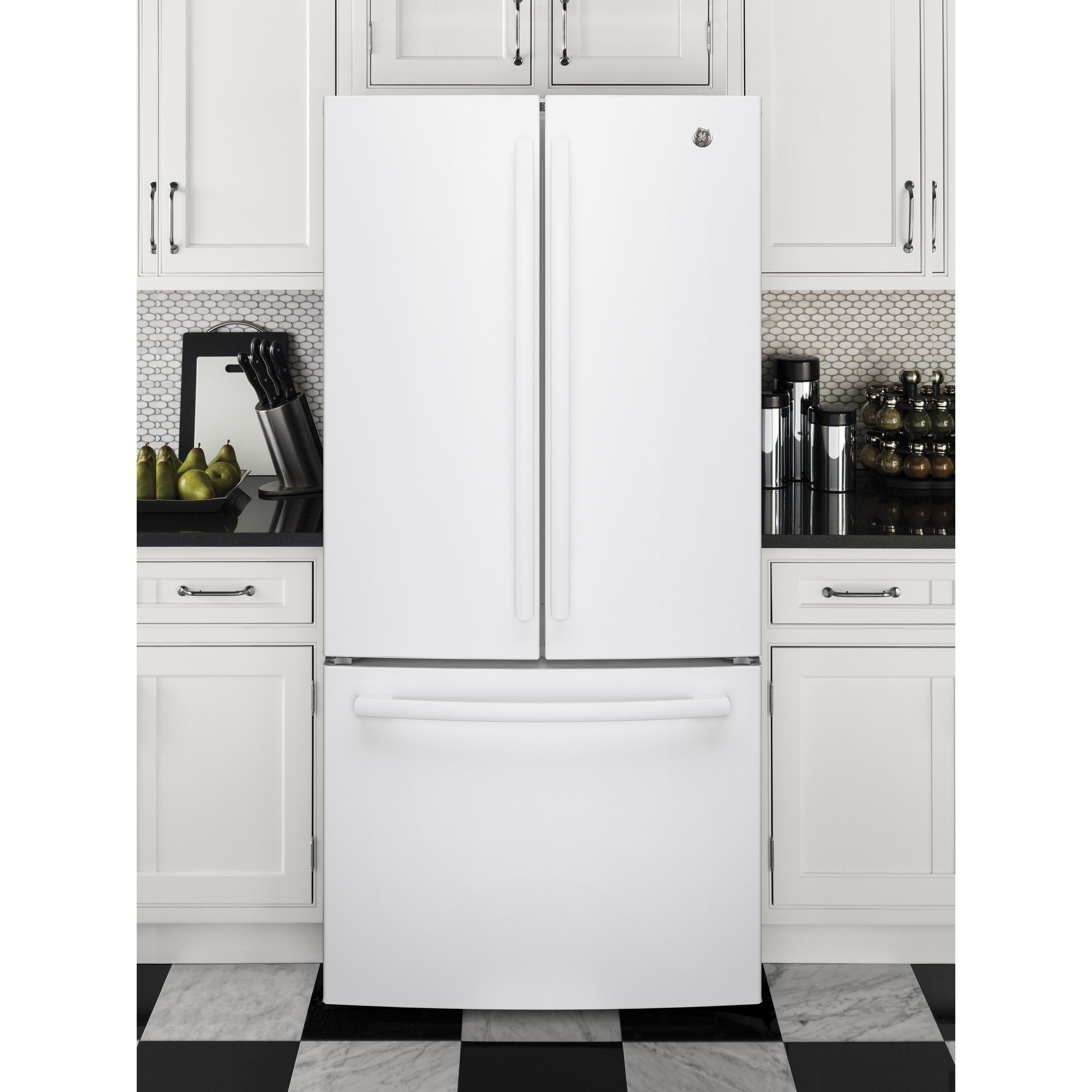 white french door refrigerator. GE Series Energy Star 24.8 Cu.ft. French Door White Refrigerator (White) | Refrigerator, And