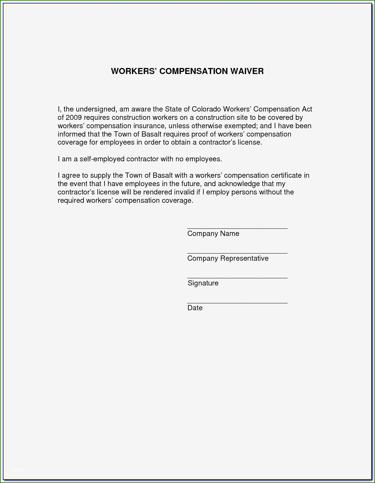 19 Phenomenal Waiver Of Subrogation Template that Will Wow