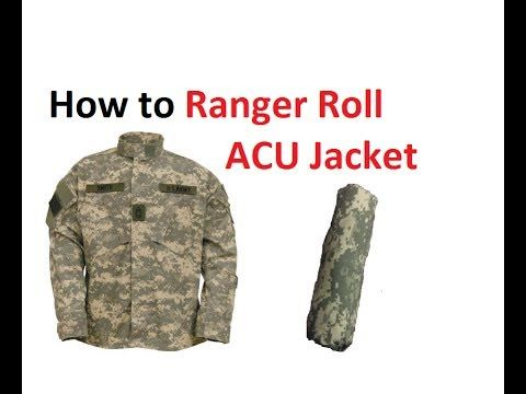 how to ranger roll your acu jacket 101 army combat uniform for packing and basic training youtube