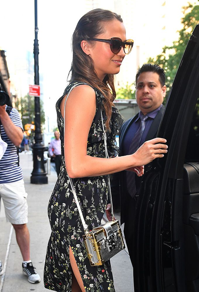 ad712cf23dcde0 Alicia Vikander Louis Vuitton Petite Malle Bag | celebrity bags ...