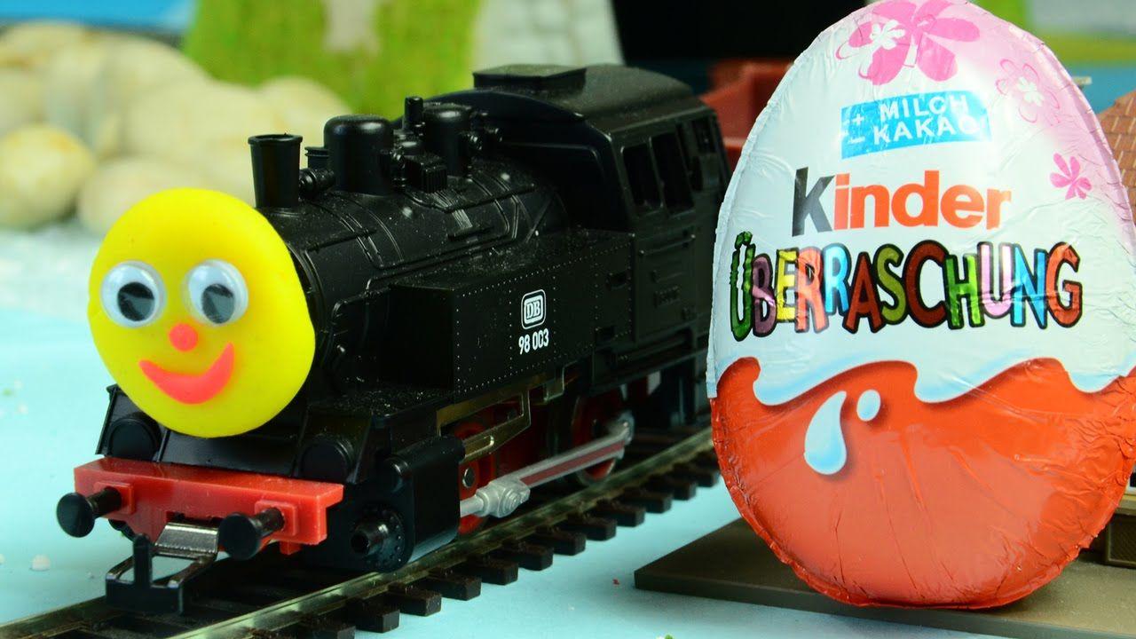Kinder joy toys car  NEW Kinder Surprise Egg Opening with Thomas train delivery Kinder