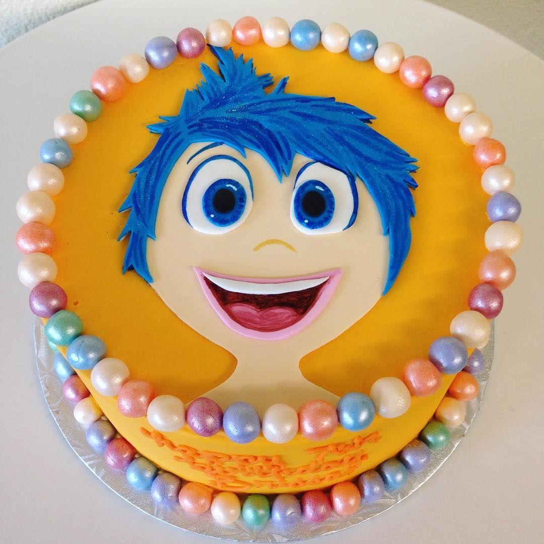This Inside Out Cake Is Down Right Joyful Insideout Joy Customcake Stuffedcakes By Stuffed Cakes StuffedCakes Custom