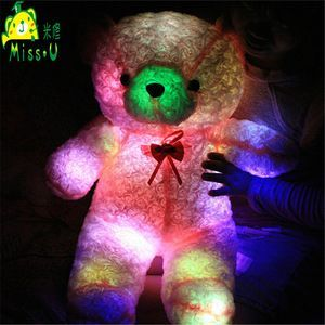 Valentines Wholesale Gift Stuffed Customized Soft Plush LED Toys Night Lighting Bear Plush Toys Wholesale Price Trade Assurance
