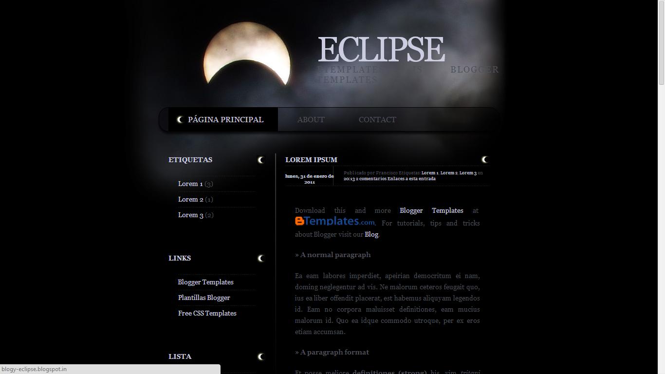 Dark Blogger Templates WordPress
