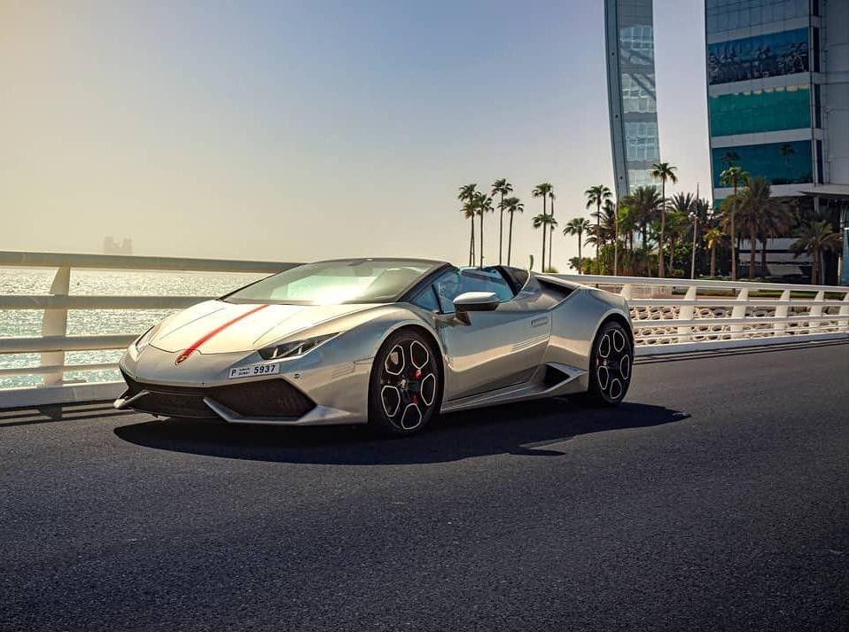 Lamborghini Huracan Spyder For Rental In Dubai