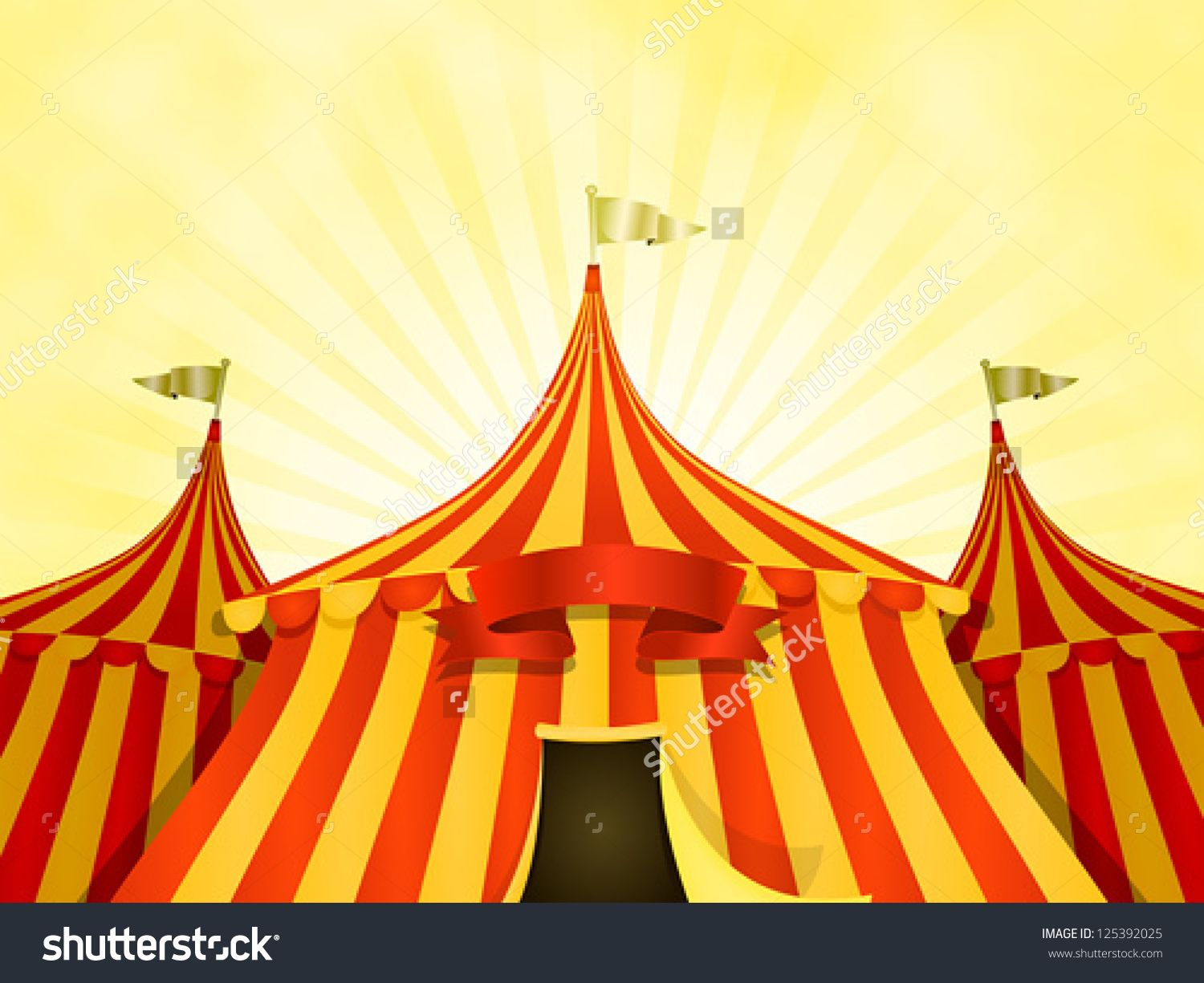 Big Top Circus Background With Banner/ Illustration of cartoon yellow and red big top circus tents background with marquee or banner on a summer sky ... & red door yellow back ground - Google Search | Fixtures/Lighting ...