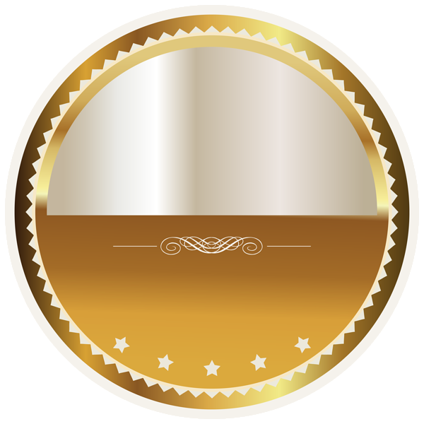 gold and white seal badge png clipart picture bonitas. Black Bedroom Furniture Sets. Home Design Ideas
