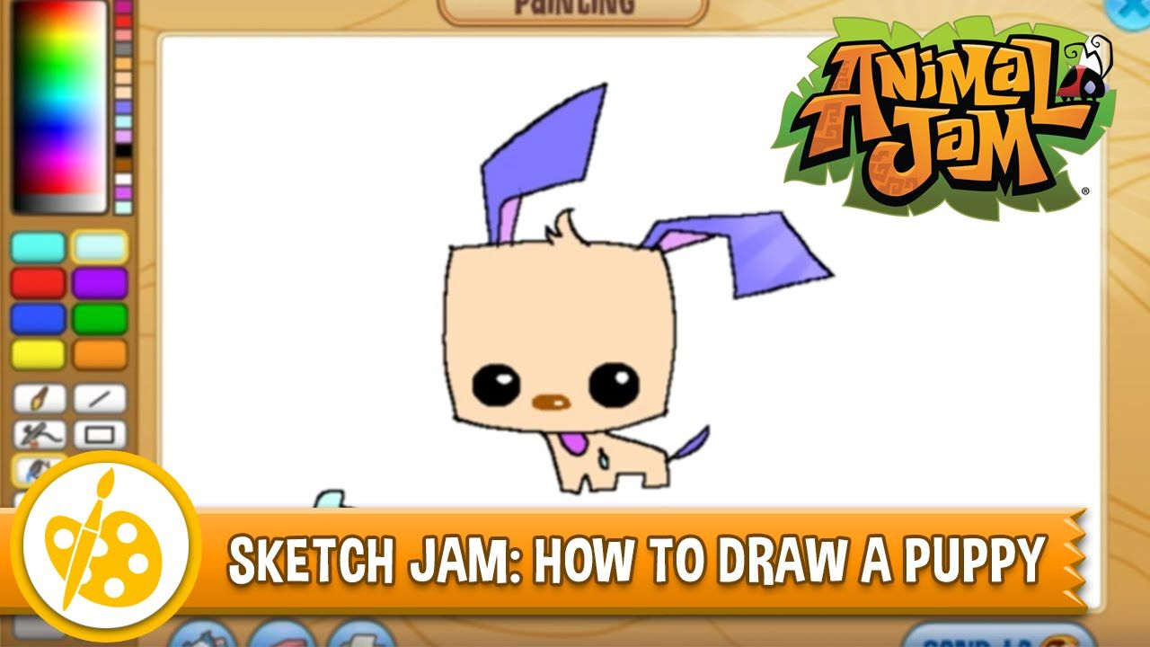 Sketch Jam! Learn how to draw a puppy from Animal Jam