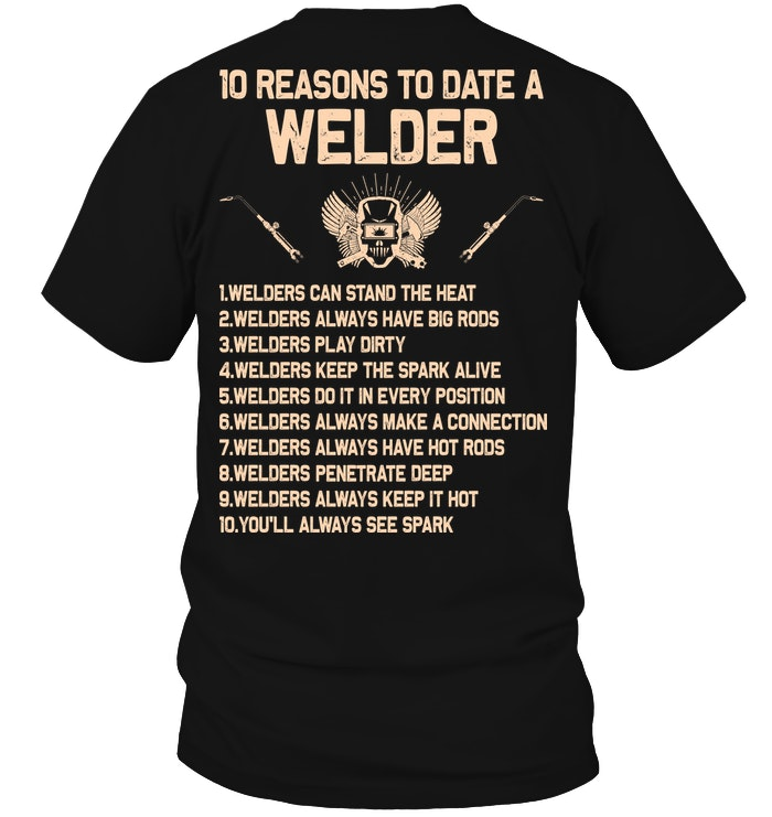 Welder/'s Hanes Tagless Tee T-Shirt Welders Wife Apparel