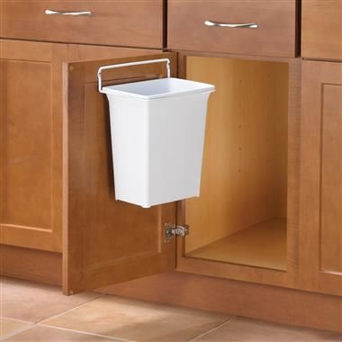The Door Mounted Trash Can Gives You A Convenient Trash Receptacle In Space  That Might Otherwise Be Unused On Your Cabinet Door.