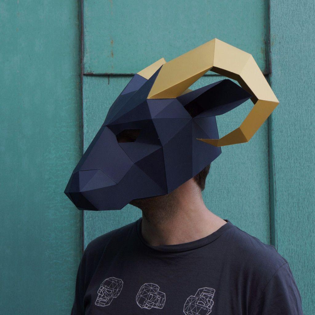 Ram Mask - Wintercroft | Men that burn. | Pinterest | Masking ...