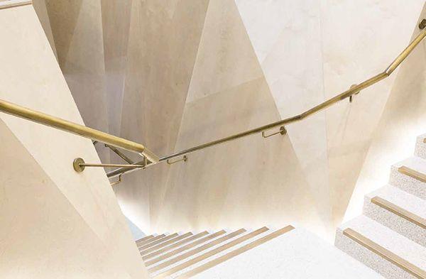 Brass handrails, a touch of class