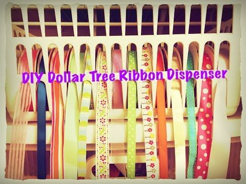 Diy Dollar Tree Ribbon Dispenser For 2 Quick And Easy Youtube