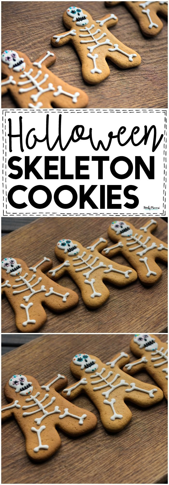 check out these soft & delicious halloween skeleton cookies! they're