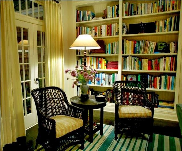Am intrigued with the idea of bookcases inbetween the studs on the ...