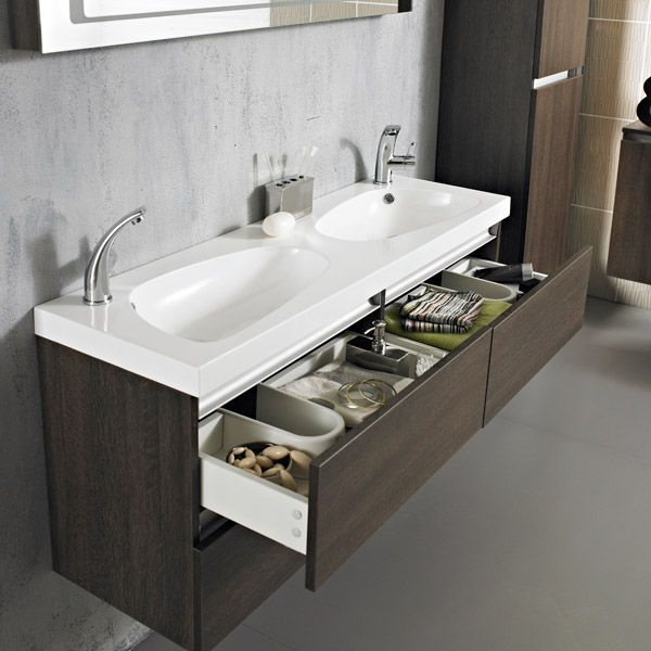 Double Sink Vanity Units For Bathrooms. The Hudson Reed Ambit Wall Mounted Vanity Unit is sure to be the centre  piece of your new bathroom Cascada Bathrooms Console Home Pinterest