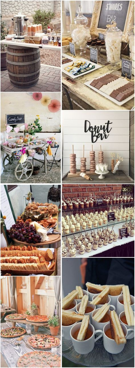 28 Mouth-watering Wedding Food/Drink Bar Ideas for Your Big Day #weddingmenuideas