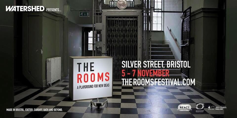 THE ROOMS - From a playground filled with battling robots and fabulous beasts, to an interactive light garden, haunted study and enchanted library. Get lost in a bio-activated maze, dance with Elvis and reimagine our digital future. http://theroomsfestival.com/# review WIRED http://www.wired.co.uk/news/archive/2015-11/06/rooms-festival-of-digital-art-bristol