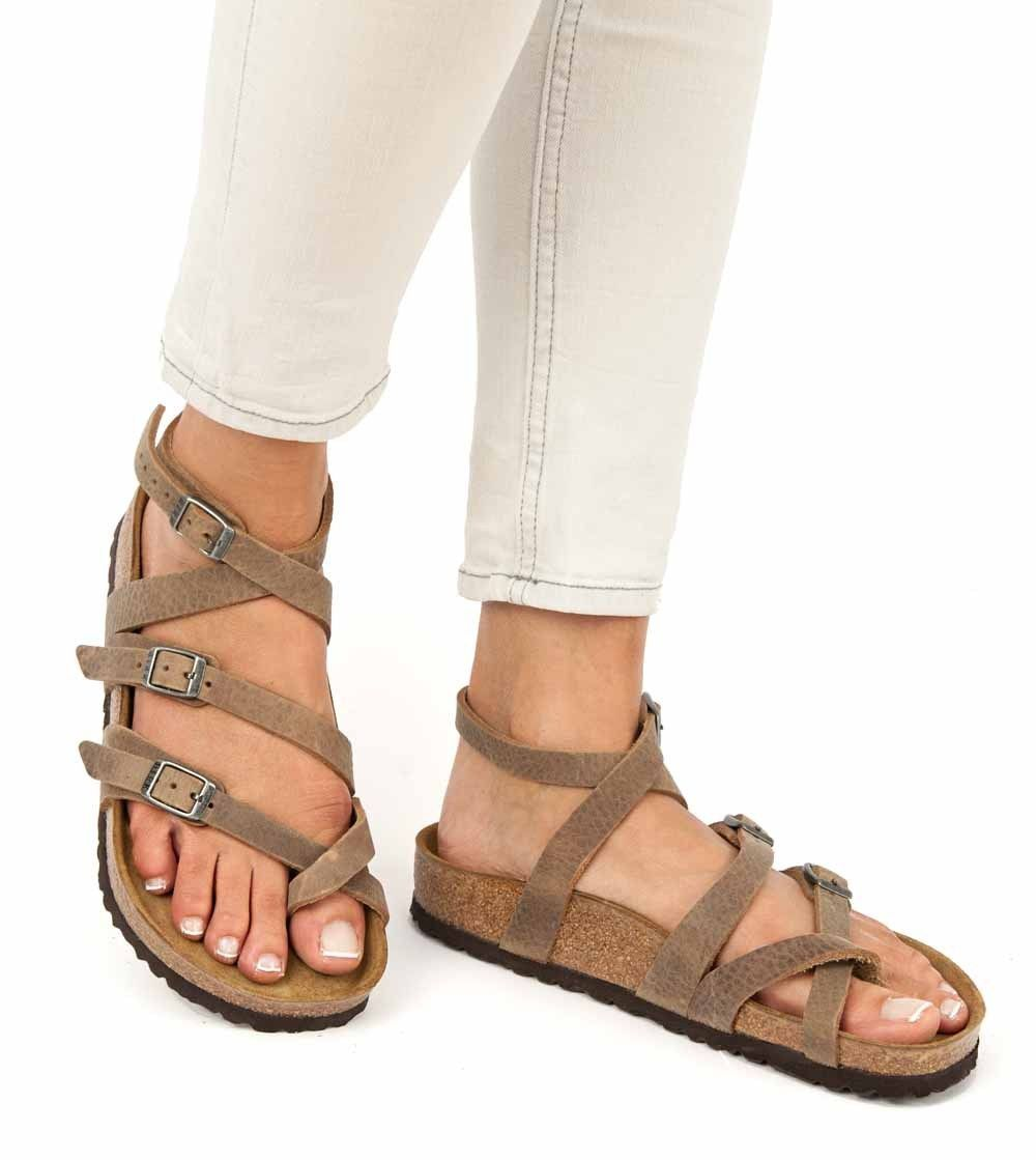 Birkenstock Sandals SERES Camberra Old Tabacco brown natural leather  regular  cbf687748f