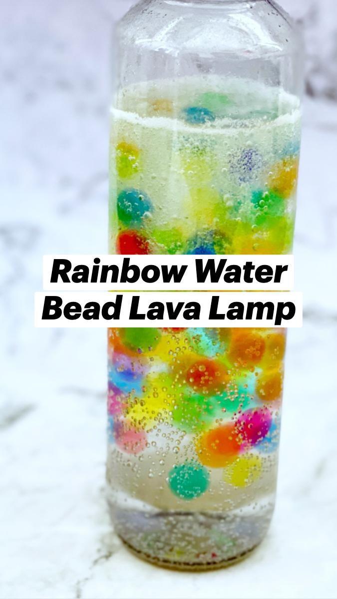 Rainbow Water Bead Lava Lamp