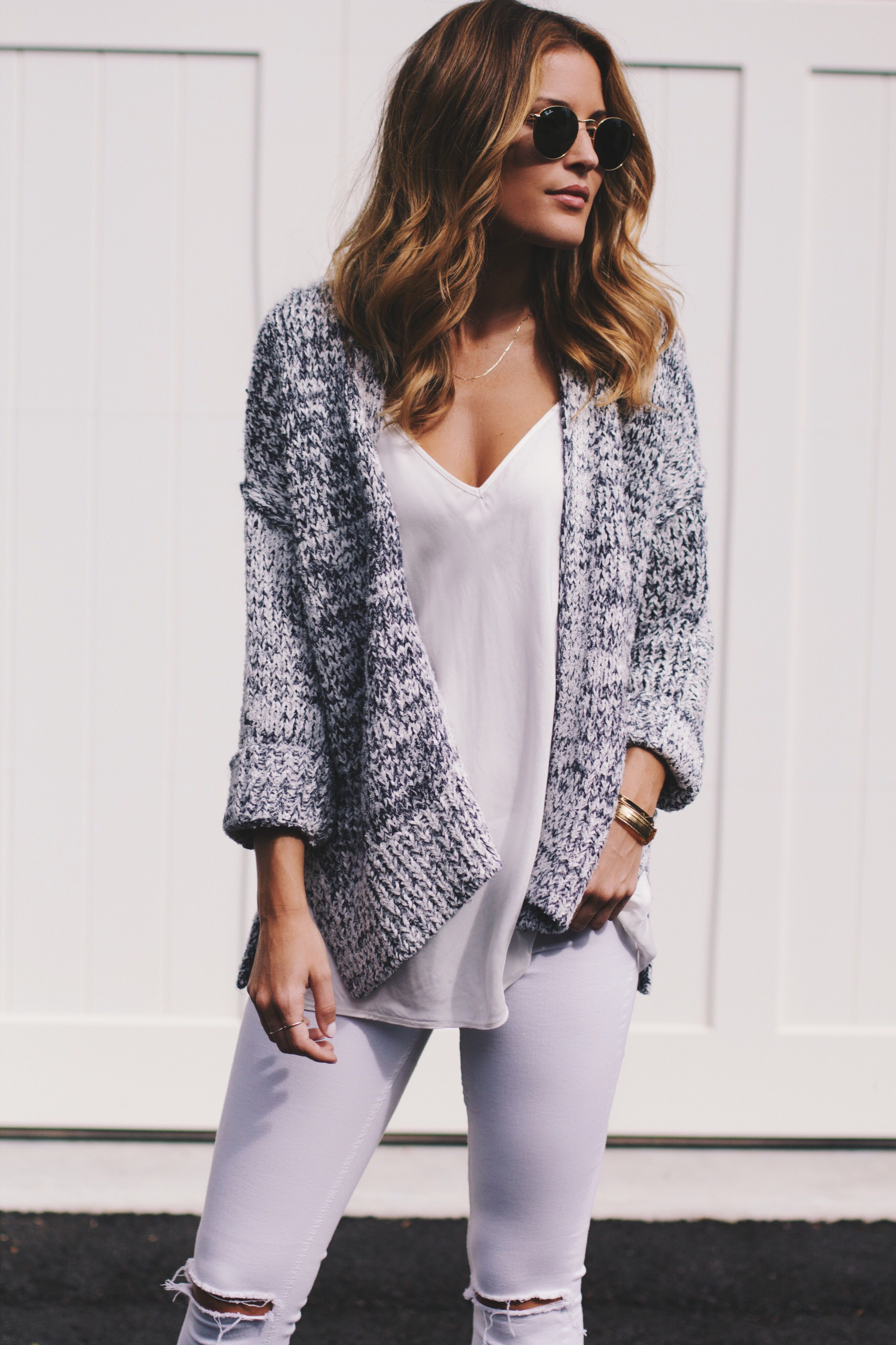 LOU   GREY | Open cardigan, Gray and Blogger style