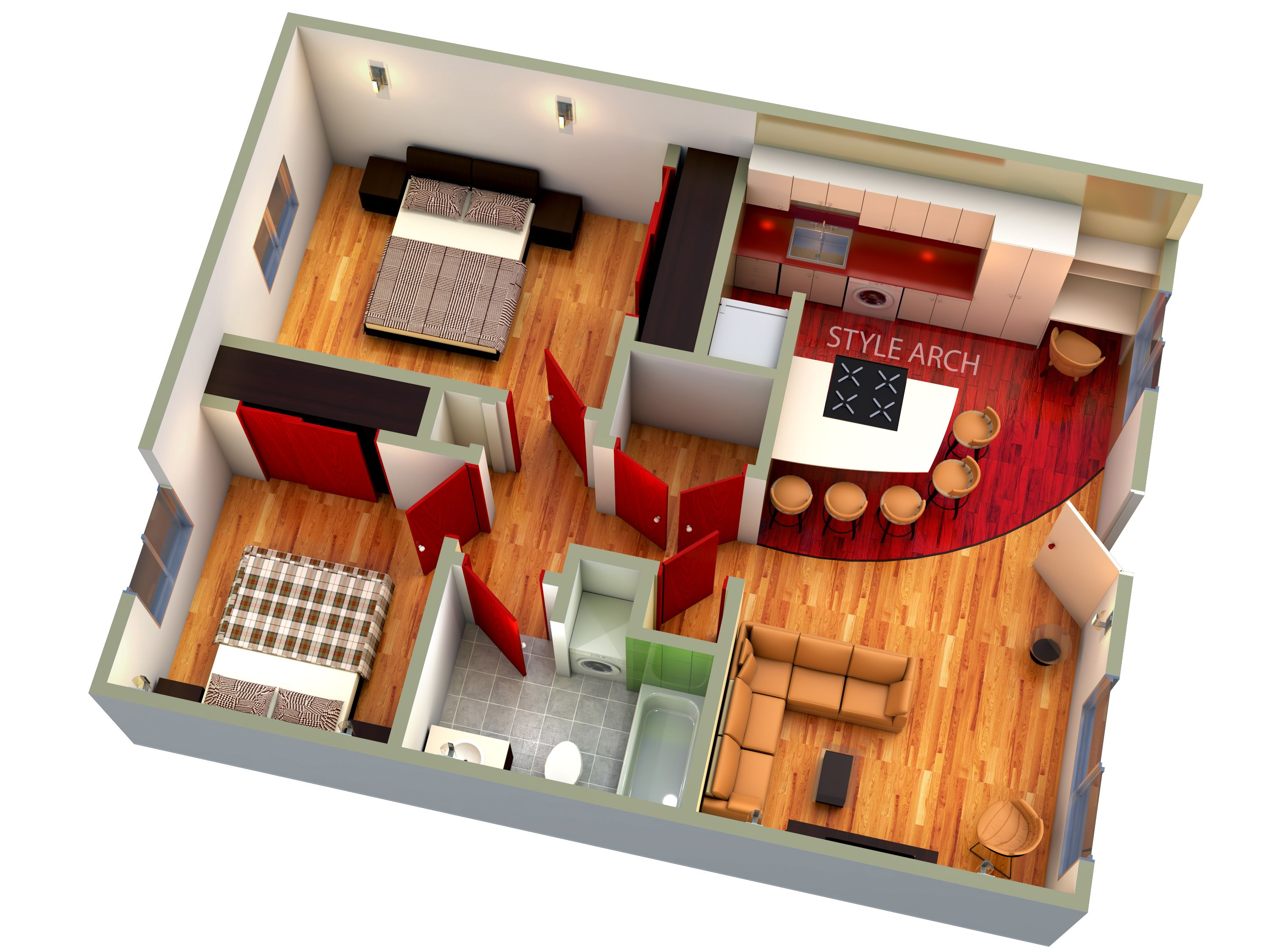 House 3d Plan Floor Plans Architectural Floor Plans Interior Architecture Design