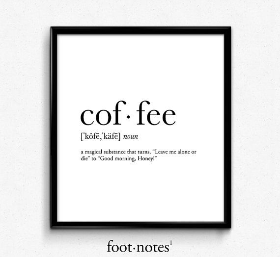 Photo of Coffee Magic Definition College Dorm Girl Dictionary Art, Minimalist Poster, Funny Definition Print, Dorm Decor, Office Decor
