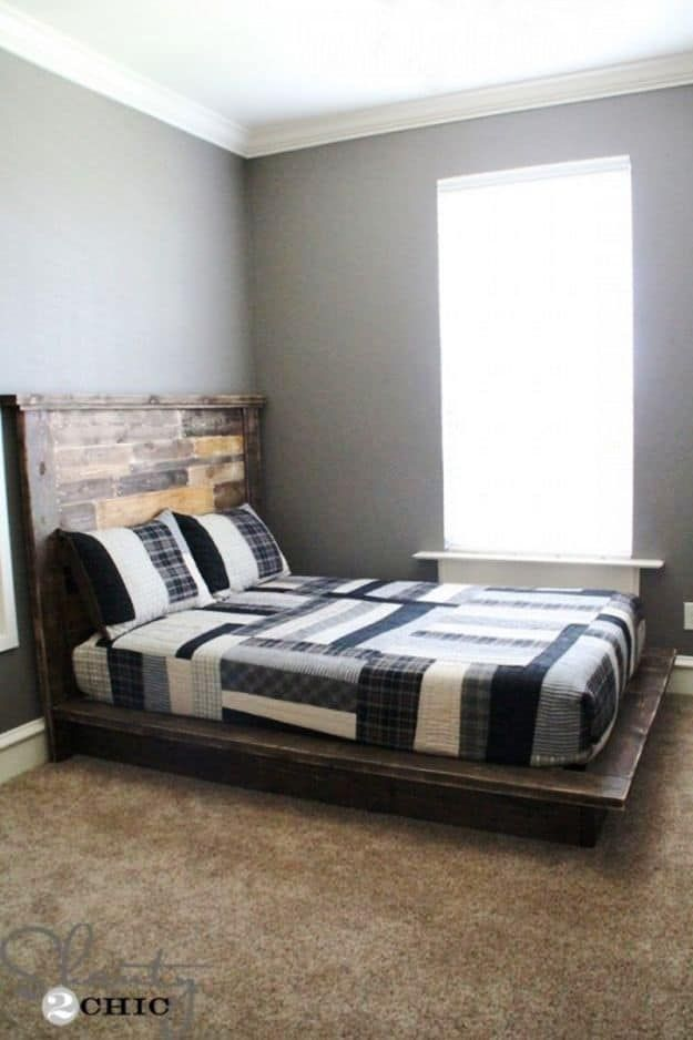 17 Easy To Build DIY Platform Beds Perfect For Any Home   Camas ...