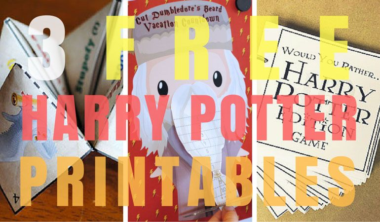 get excited for your wizarding world of harry potter vacation with our 3 free harry potter printables including harry potter would you rather