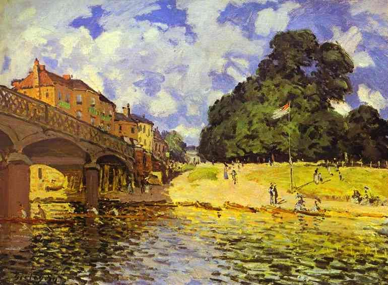 Bridge at Hampton Court - Alfred Sisley