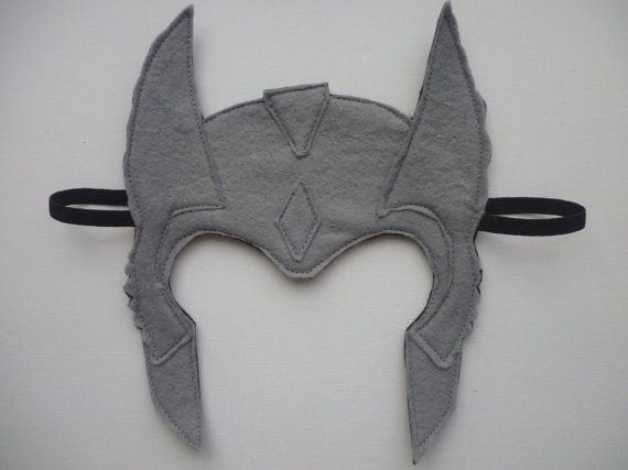 Felt Thor helmet/mask for dressing by MummyHughesy on Etsy ...