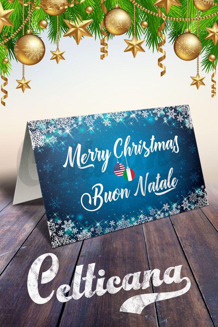 Merry Christmas Italian Card Buon Natale Card