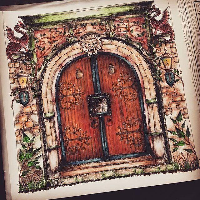 Enchanted door & Enchanted door | Johannau0027s Enchanted Forest | Pinterest | Enchanted ...